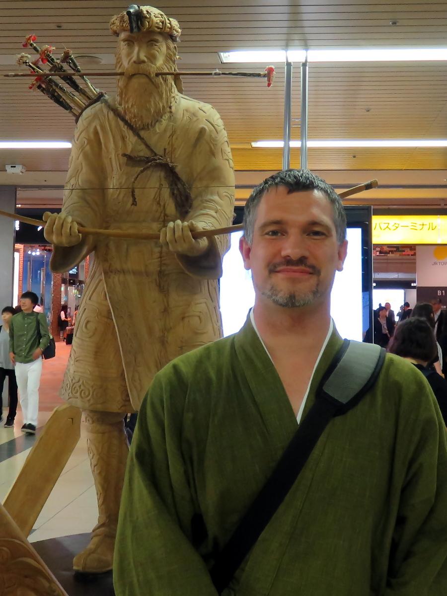 [EN-FR] Statue+Sébastien. [JP] 像とセバスチャン。