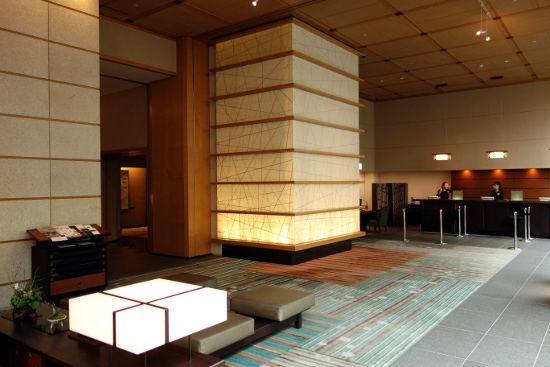 Lobby of Hotel Niwa Tokyo (Tokyo, Japan) in March 2014.
