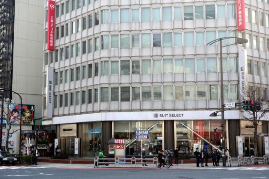 Shop Suit Select in Jimbocho area (Tokyo, Japan) in March 2014.